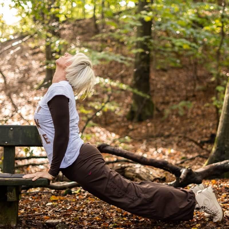Træning i naturen med personlig træner Susanne Jensen Odense